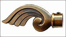 карнизы для штор металлические наконечник ЕМ117