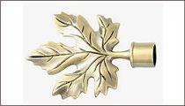 карнизы для штор металлические наконечник клен