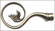 карнизы для штор металлические наконечник ника