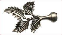 карнизы для штор металлические наконечник папоротник
