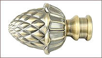 карнизы для штор металлические наконечник шишка