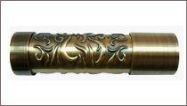 карнизы для штор металлические наконечник эния
