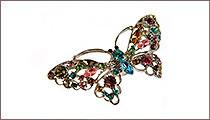 магнит для штор бабочка разноцветная