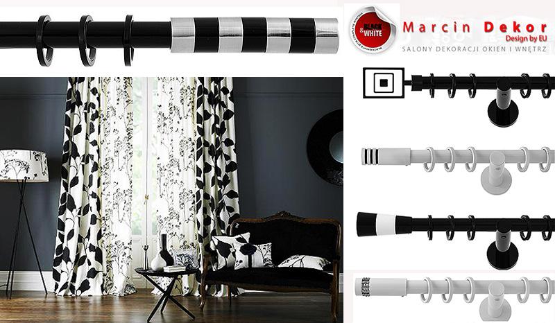 Карнизы для штор черные и белые 19мм киев marcin decor Польша купить в интернет магазине Euro-karniz.com.ua